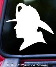 """FIREFIGHTER MAN SILHOUETTE 5"""" x 5"""" Vinyl Decal Sticker FD Fire Department Fireman"""