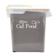 """Cat Food Label 5"""" x 1.5"""" Vinyl Decal Sticker - Feline Kitten Treats"""