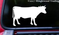 "COW 5"" x 3"" Vinyl Decal Sticker - Cattle Ungulate Farm Animal Taurus - FREE SHIPPING"