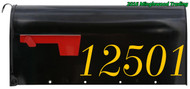 "House Numbers - Mailbox - Vinyl Decal Sticker - 11.5"" x 3.5"""