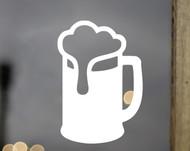 "BEER IN MUG 3.5"" x 5"" Vinyl Decal Sticker - Suds Root Beer Ice Cream Float - 20 Color Options"