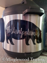 "INSTANTPOTAMUS 7.5"" x 4.5"" Vinyl Decal Sticker for Instant Pot - Hippopotamus - FREE SHIPPING"