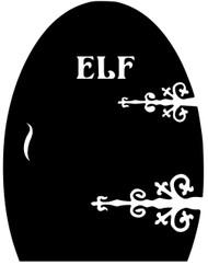 """Elf Door - Fairy Folklore Mythology Vinyl Decal Sticker - 6.5"""" x 5"""""""