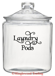 "LAUNDRY PODS  5"" x 3.5"" Vinyl Decal Sticker - Detergent Pod Mud Room Cleaning - FREE SHIPPING"