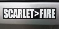 "SCARLET>FIRE 7"" x 1.5"" Die Cut Decal - Grateful Dead Sticker - Jerry Garcia - Scarlet Begonias  FREE SHIPPING"