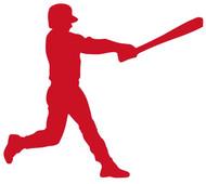 """Baseball Batter - Home Run Little League Hitter - Vinyl Decal Sticker - 6"""" x 5"""""""