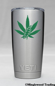 "2x Marijuana Leaf Bolt 2.5"" Vinyl Decal Stickers - The Grateful Dead"