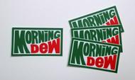 """4x MORNING DEW GRATEFUL DEAD 1.75"""" Die Cut Decals - Jerry Garcia"""