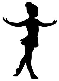"""Ballet Girl Dancer - Tendu - Vinyl Decal Sticker - 5"""" x 3.5"""" (girl1)"""