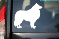 "Collie Dog Sheepdog Border Bearded Shetland Welsh Vinyl Decal Sticker 4.5"" x 5"""