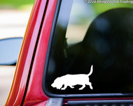 "BASSET HOUND Vinyl Decal Sticker 5"" x 3"" Hush Puppy Dog"
