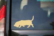 """BASSET HOUND Vinyl Decal Sticker 5"""" x 3"""" Hush Puppy Dog"""