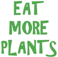 "Eat More Plants - Vinyl Decal Sticker - 5"" x 5"""