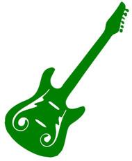 "Electric Guitar - Vinyl Decal Sticker - 5"" x 4.5"""