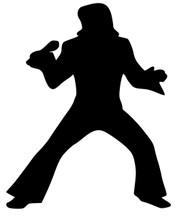 "Elvis Presley the King - Vinyl Decal Sticker - 4"" x 5"""