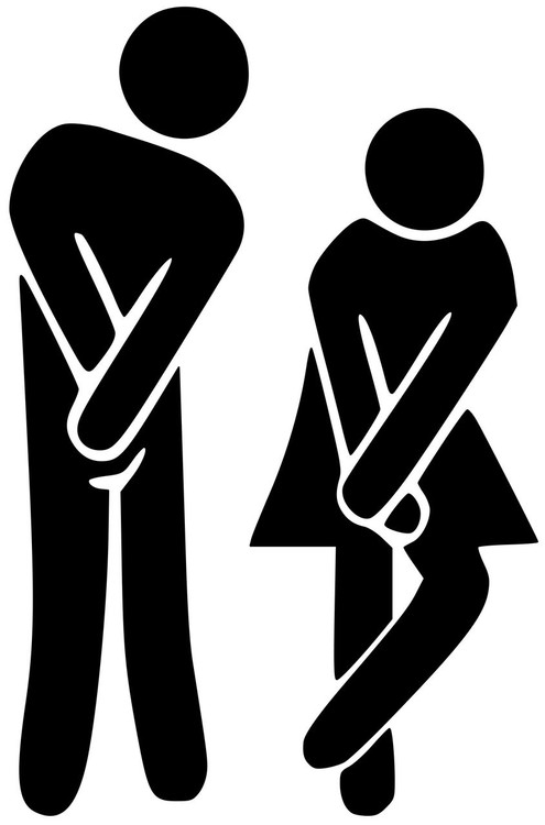 Man Woman Restroom Bathroom Door Sign Vinyl Decal