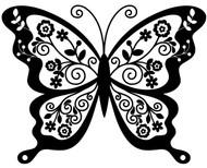 "Butterfly (version 2) - Vinyl Decal Sticker - 11.75"" x 9""  - Skipper Moth Tattoo"