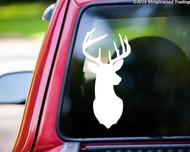 "Deer - Rack Stag 9-point Mule White-Tailed Elk Vinyl Decal Sticker 11.5"" x 5.5"""