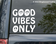 "Good Vibes Only - Vinyl Decal Sticker -Peace Hippie Love  5"" x 5.5"""