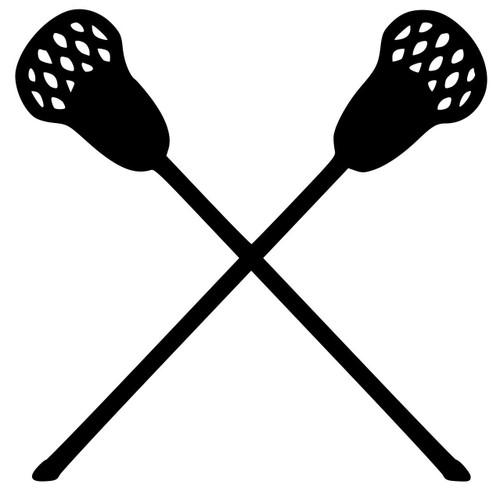 Lacrosse Sticks Field Box Intercrosse Vinyl Decal