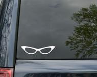 "Cat Eye Glasses - Vinyl Decal Sticker 5"" x 1"" iPad Car"