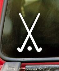 "FIELD HOCKEY STICKS 5"" x 3"" Vinyl Decal Sticker"