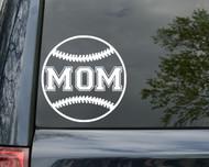 """Baseball MOM Vinyl Decal Sticker 5"""" x 5"""" Little League"""