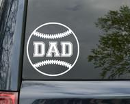 """Baseball DAD Vinyl Decal Sticker 5"""" x 5"""" Little League"""