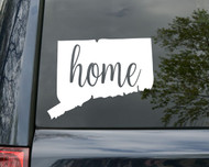 "Connecticut State Vinyl Decal Sticker 6"" x 4.5"" Home - CT"