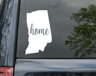 "Indiana State Vinyl Decal Sticker 6"" x 3.5"" Home IN Hoosier"