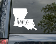 "Louisiana State Vinyl Decal Sticker 6"" x 5"" Home LA New Orleans LSU"