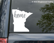 "Minnesota State vinyl decal sticker 6"" x 5.25"" MN Home"
