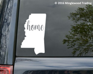 "Mississippi State vinyl decal sticker 6"" x 3.75"" MS home"
