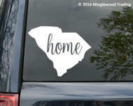 "South Carolina State vinyl decal sticker 6"" x 4.75"" SC Home"