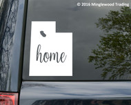 "Utah State vinyl decal sticker 4.75"" x 6"" UT Home"