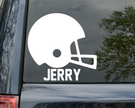 "Football Helmet Vinyl Decal Sticker with Custom Personalized Name 6"" x 6"""