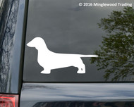 """Dachshund Dog - Weenie Weiner Teckel Dackel Doxie Vinyl Decal Sticker 2.5"""" x 5"""""""