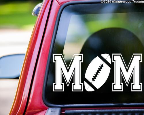 Football Mom Custom Vinyl Decal Sticker  X  Youth High - Football custom vinyl decals for cars