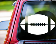 "Football custom vinyl decal sticker 11.5"" x 6.75""  Sports"