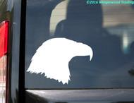 "Eagle Head Profile vinyl decal sticker 5"" x 3.5"" Falcon Bird of Prey Peregrine Bald"
