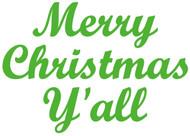 "Merry Christmas Y'all - Door Greeting - Vinyl Decal Sticker - 7"" x 5"""