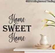 "Home Sweet Home - vinyl decal sticker 11"" x 11"" Wall Decor"
