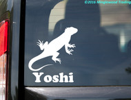 "Iguana vinyl decal sticker with Custom Personalized Name 5"" x 5.5"" Lizard Reptile"