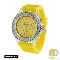 Yellow light up watch medium size for ladies