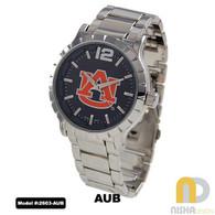 Auburn-Tigers-Mens-Metal-Watch