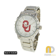 Oklahoma-Sooners-OU-Mens-Metal-Watch