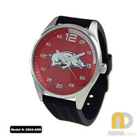 Arkansas-Razorbacks-Mens-Jelly-Watch