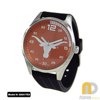 Texas-Longhorns-Mens-Jelly-Watch