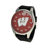 Wisconsin-Badgers-Mens-Jelly-Watch