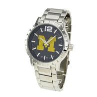 Michigan-Wolverines-Mens-Metal-Watch